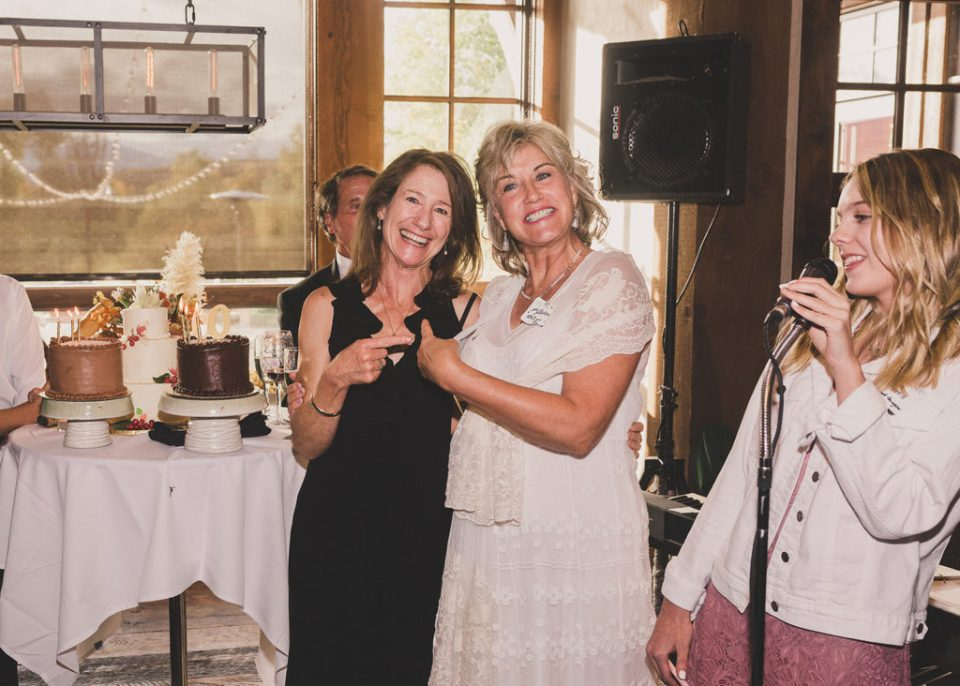 bride toasts friend for 60th birthday
