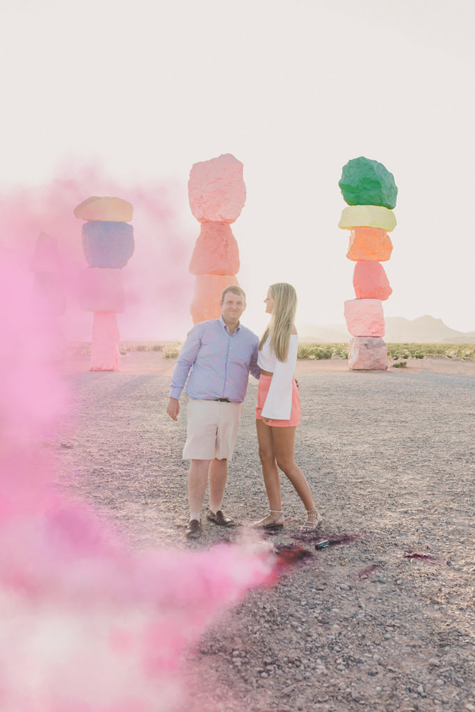 Seven Magic Mountains baby announcement in Las Vegas