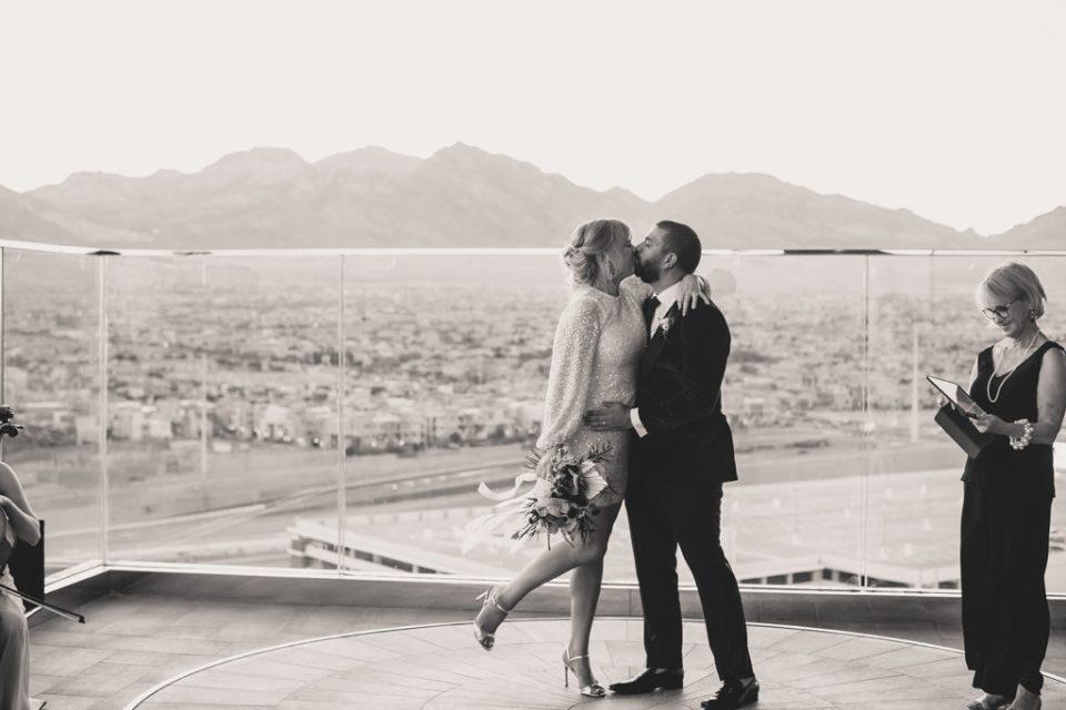 Red Rock Resort elopement portraits in Las Vegas