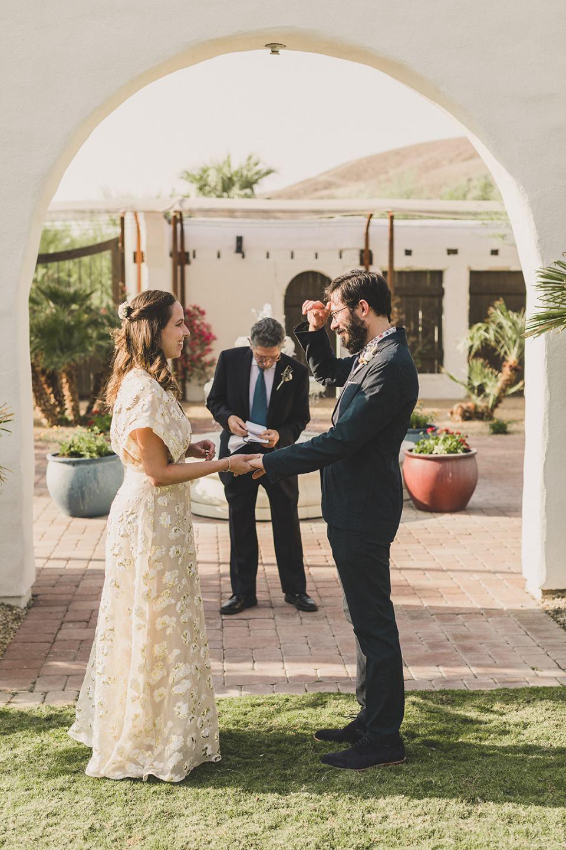 newlyweds exchange rings