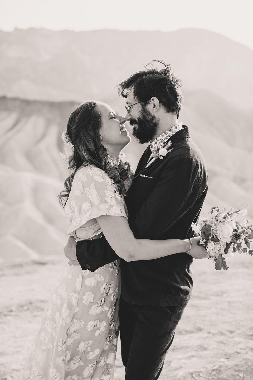 Zabriskie Point wedding portraits in California