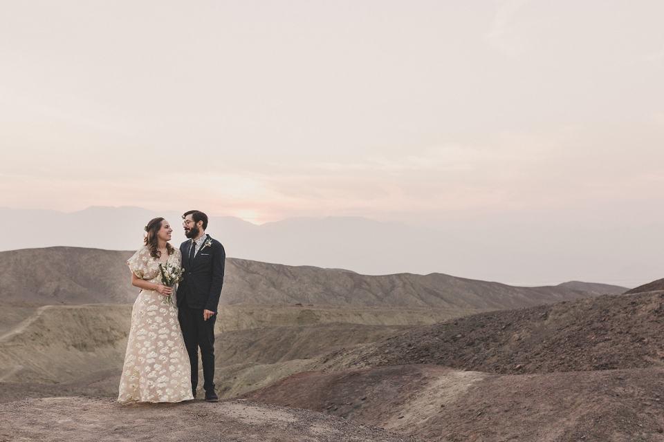 Artist Palette sunset wedding portraits after elopement