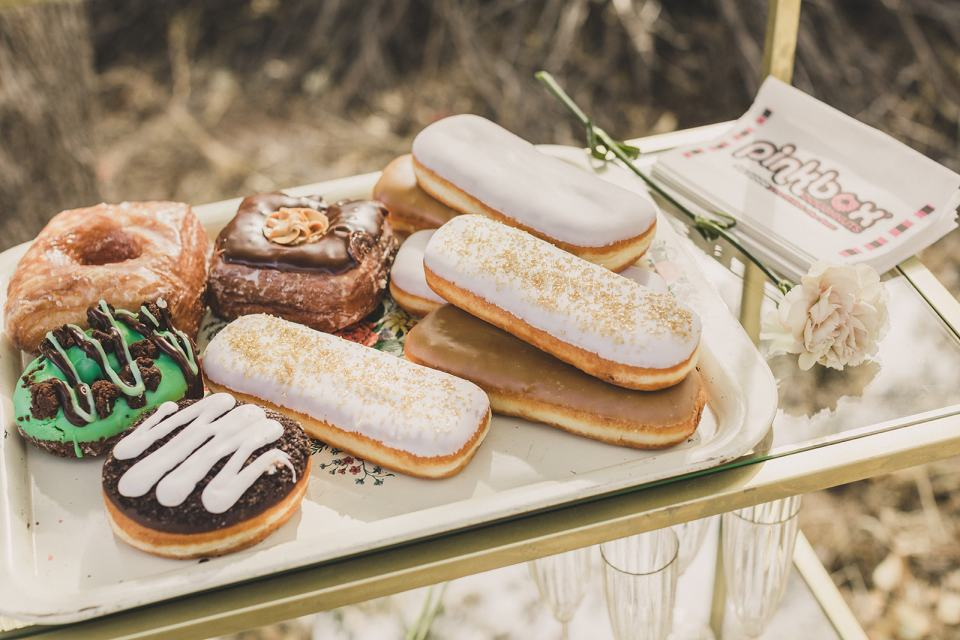 donuts for celebration after Spring Mountain Ranch Elopement