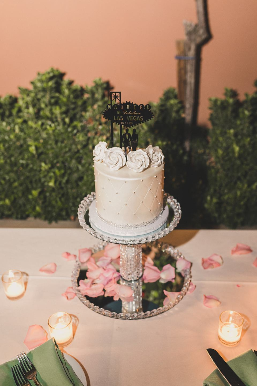 custom wedding cake for Las Vegas reception