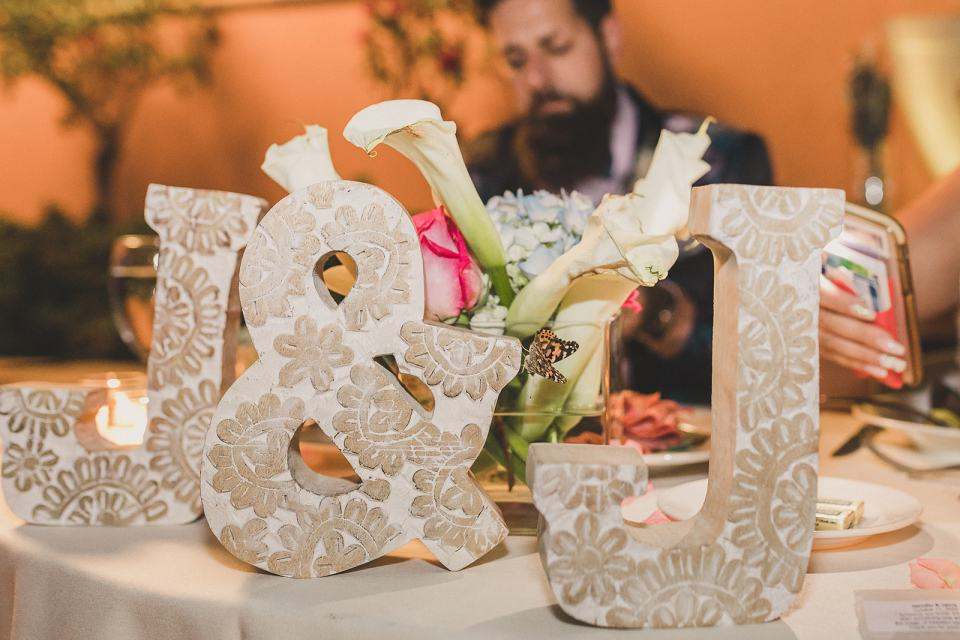 bejeweled letters for sweetheart table in Las Vegas