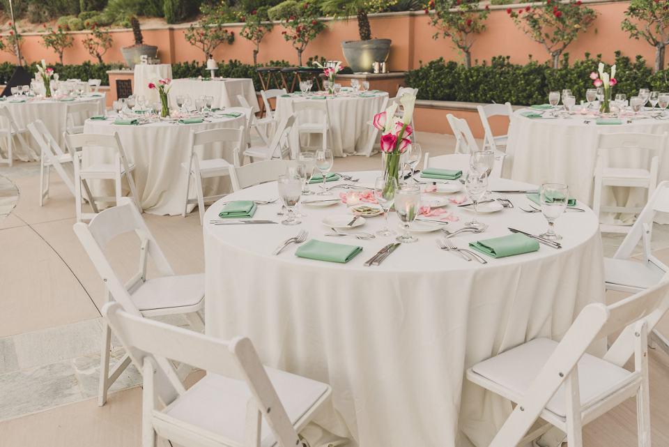 The Westin Lake Las Vegas wedding reception details