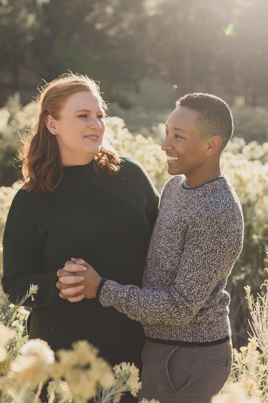 couple dances during Las Vegas family photos