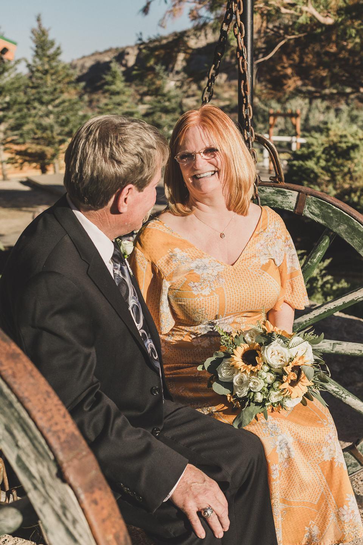 Las Vegas elopement portraits of older bride and groom