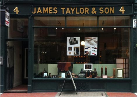 James Taylow bespoke shoes and orthopaedic footware London shop.