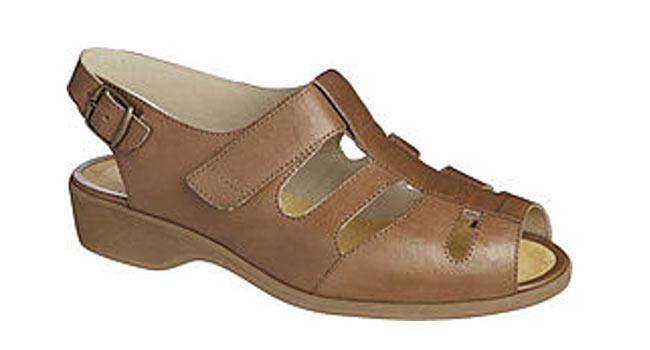 Ladies comfort sandal brown