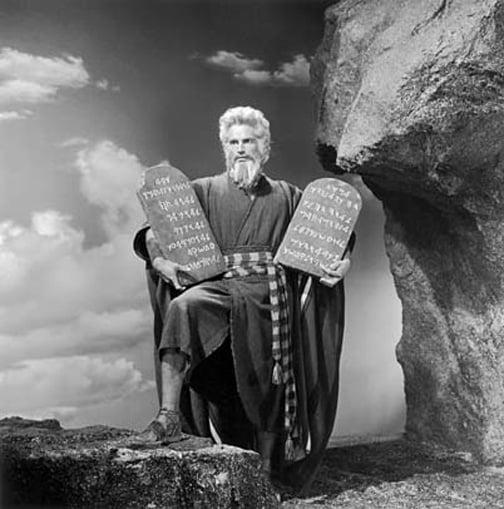 charlton-heston 10 Commandments Moses Horns