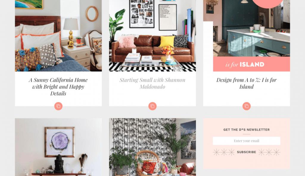 Design Sponge - interior diy blog