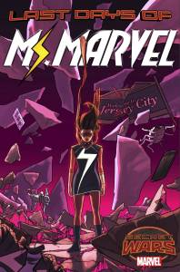 MARVEL COMICS (W) C. Willow Wilson (A) Adrian Alphona (CA) Kris Anka •When the world is about to end, do you still keep fighting? • From the moment Kamala put on her costume, she's been challenged, but nothing has prepared her for this:  the Last Days of the Marvel Universe.   • Fists up, let's do this, Jersey City. • Plus a VERY special guest appearance fans have been clamoring for! Rated T+ Item Code: APR150705