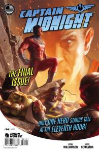 Publisher: DARK HORSE COMICS (W) Joshua Williamson (A) Miguel Sepulveda (CA) Michael Broussard Facing the greatest threat in the world-the unstoppable madman known as the Archon-Captain Midnight and his allies need an ace in the hole to help pull out a victory! Thankfully, Cap has a plan . . . but will it be enough to stop the Archon when everything else has failed?  Item Code: APR150021