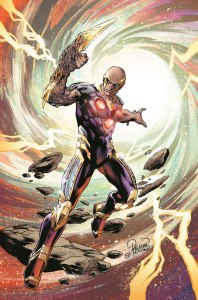 TELOS #1 Written by Jeff King Art by Carlo Pagulayan and Jason Paz On-sale October 7 The villain of the world-shattering CONVERGENCE event stars in his own new series! Set loose from his planetary tether at the end of the best-selling CONVERGENCE, Telos finds himself free and able to traverse space and time via a sliver of Brainiac's powers. As this epic begins, he embarks on an odyssey, journeying across time and space in search of his past.