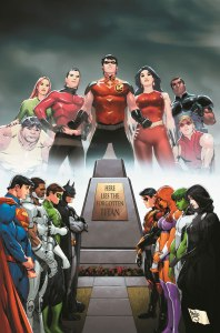 TITANS HUNT #1 Written by Dan Abnett Art by Paulo Siqueira  On-sale October 21 CONVERGENCE is over, but the ripples are still being felt, especially by a young precog named Lilith. What are these visions she's having of a Teen Titans team the world never knew? And why does she feel compelled to seek out Dick Grayson, Roy Harper, Donna Troy and an Atlantean named Garth and warn them that something dark and sinister is coming after them? Who are Mal, Gnarrk, Hank Hall and Dawn Granger, and what is their connection to the others—and to the fate of every soul on Earth? This is the Secret History of the TEEN TITANS!