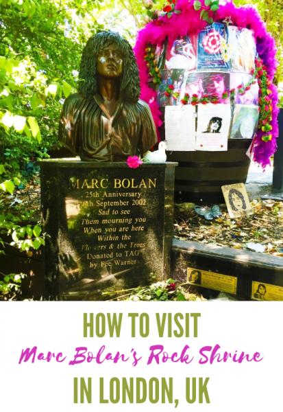 Marc Bolan's Rock Shrine Pinterest Pin