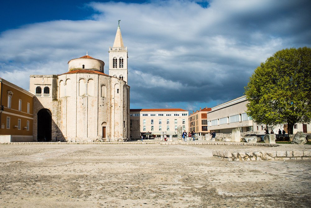 The old town of Zadar in Croatia