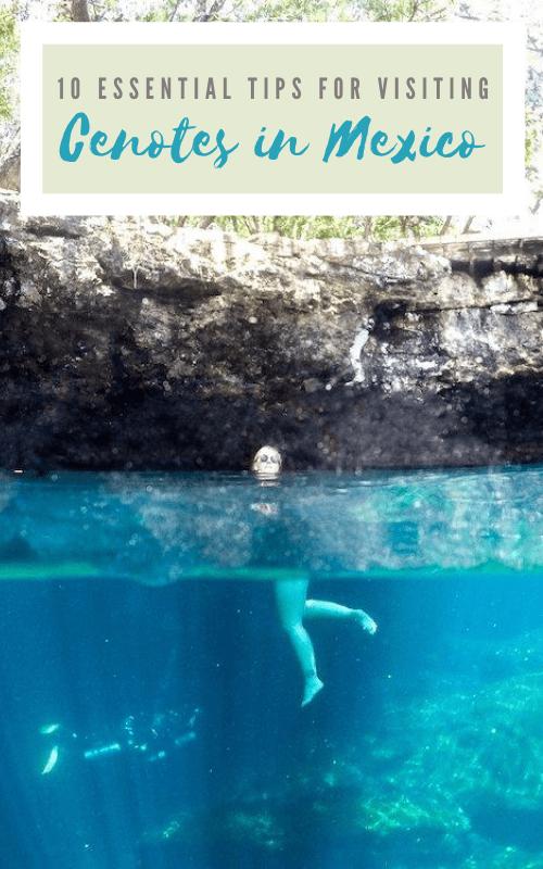 Mexico Cenote Tips Pinterest Pin