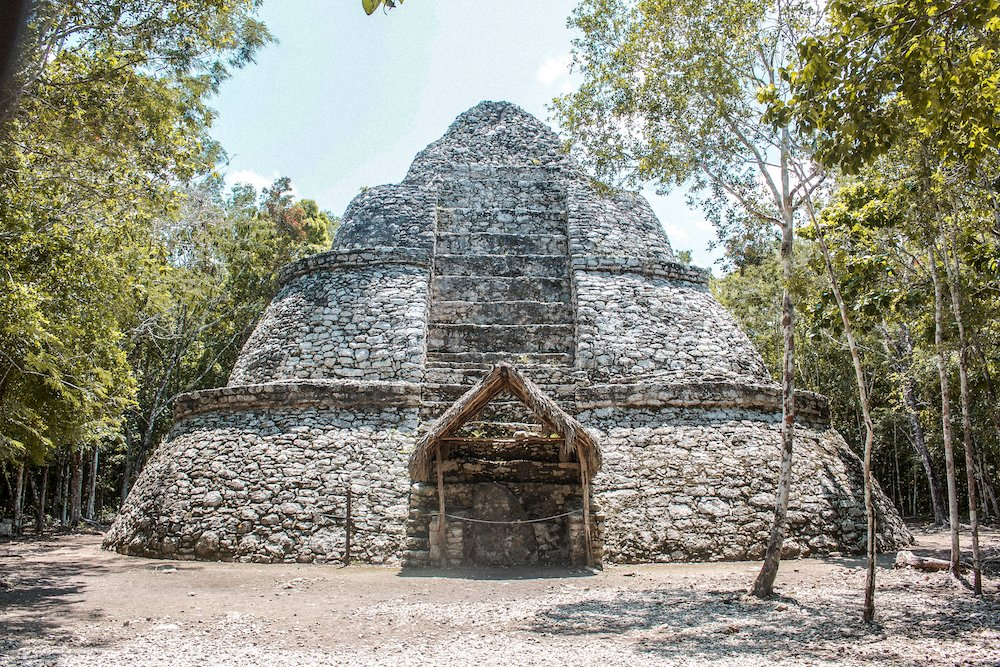 One of the main buildings at the Coba Ruins in Quintana Roo, Mexico
