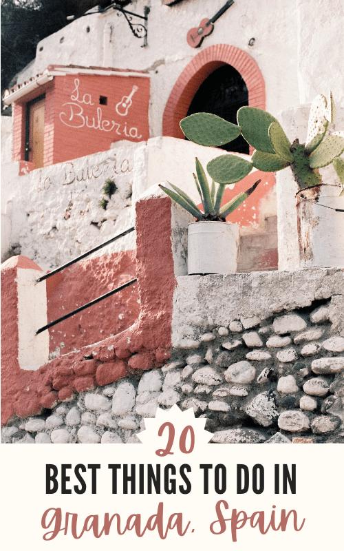 Best things to do in Granada, Spain Pinterest Pin