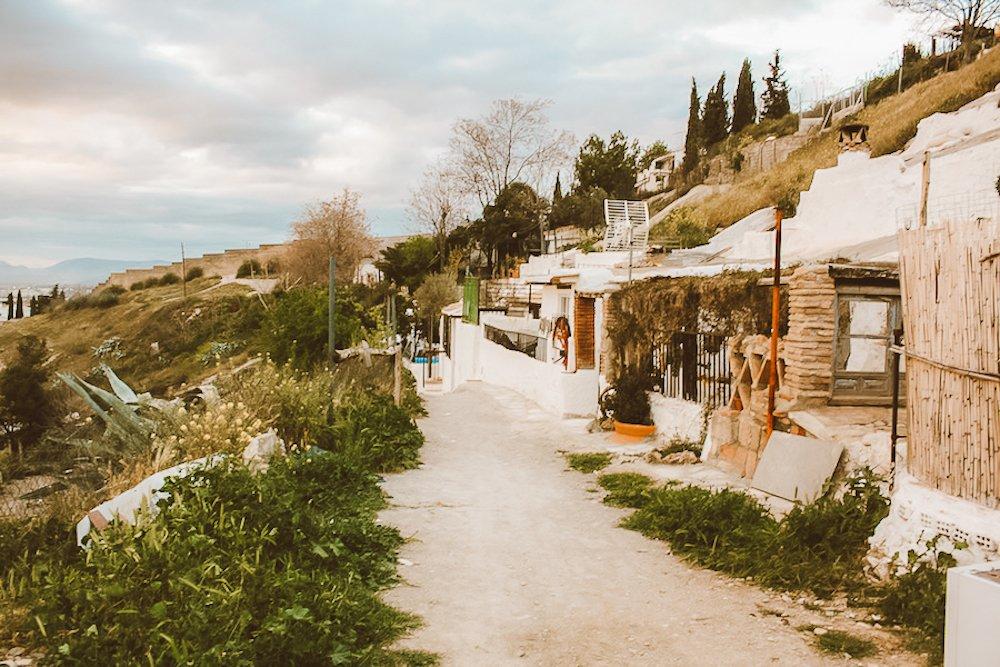 The sacromonte cave hillside in Granada Spain