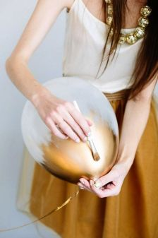 Gold Painted Balloons