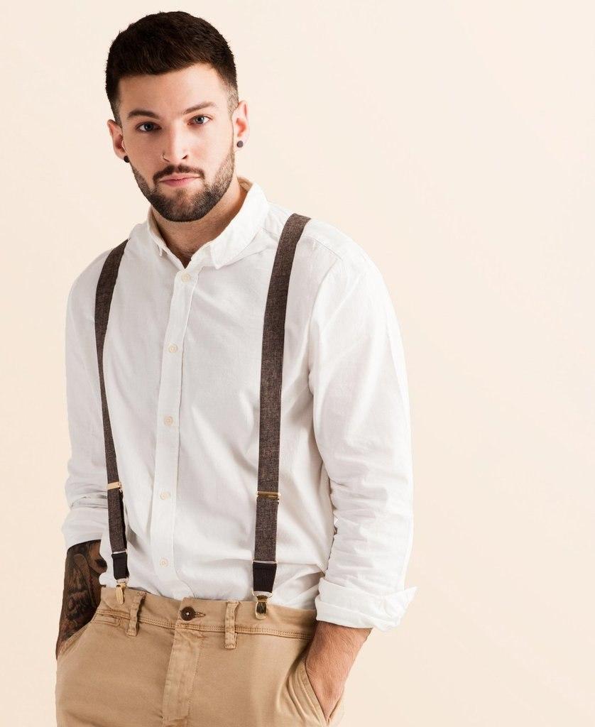 Classic Suspenders | Autumn Harvest Design | Brown