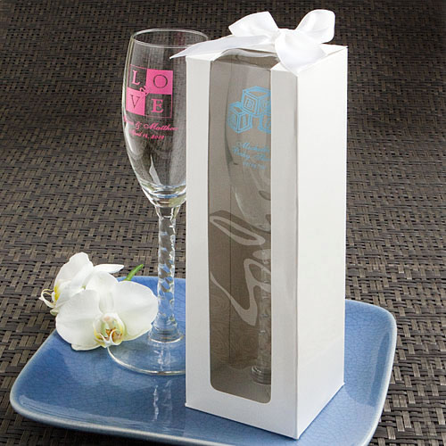 White Gift Box For Champagne Flutes