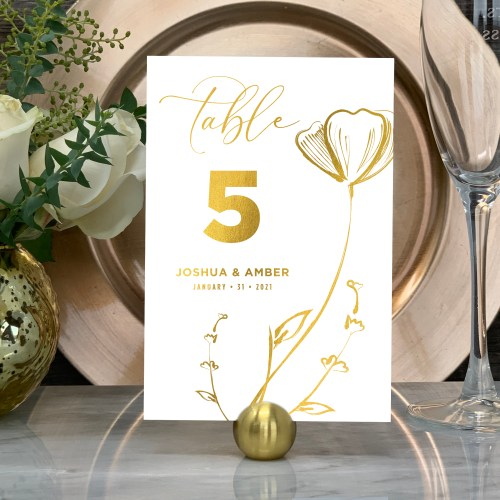 Spring Garden Table In Gold Foil