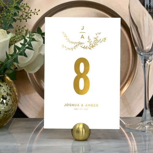 Branch Design Table Numbers