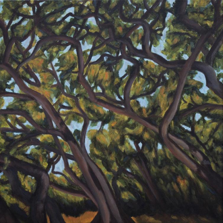 Tangled Oaks Painting