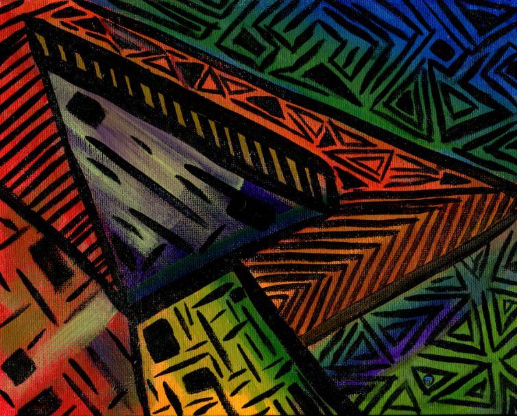 Color Rhythms 1 Painting