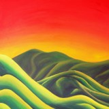 Spectrum Of Warmth On the Mountainside Painting