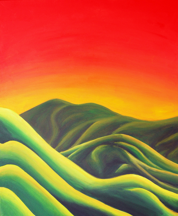 Spectrum of Warmth On the Mountainside – Painting