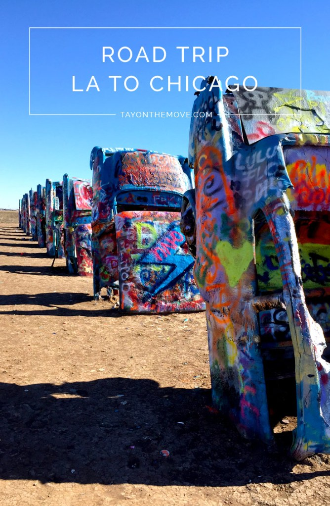 Road Trip from LA to Chciago Day 2 - Cadillac Ranch Amarillo, Texas
