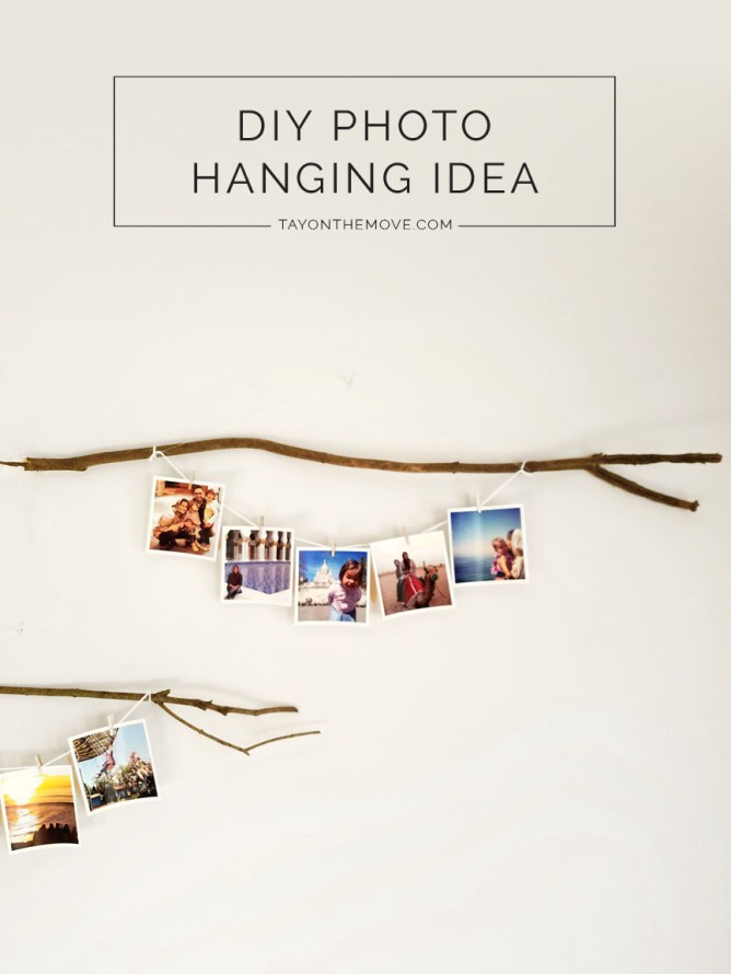 DIY - Boho/Rustic Photo Hanging Idea