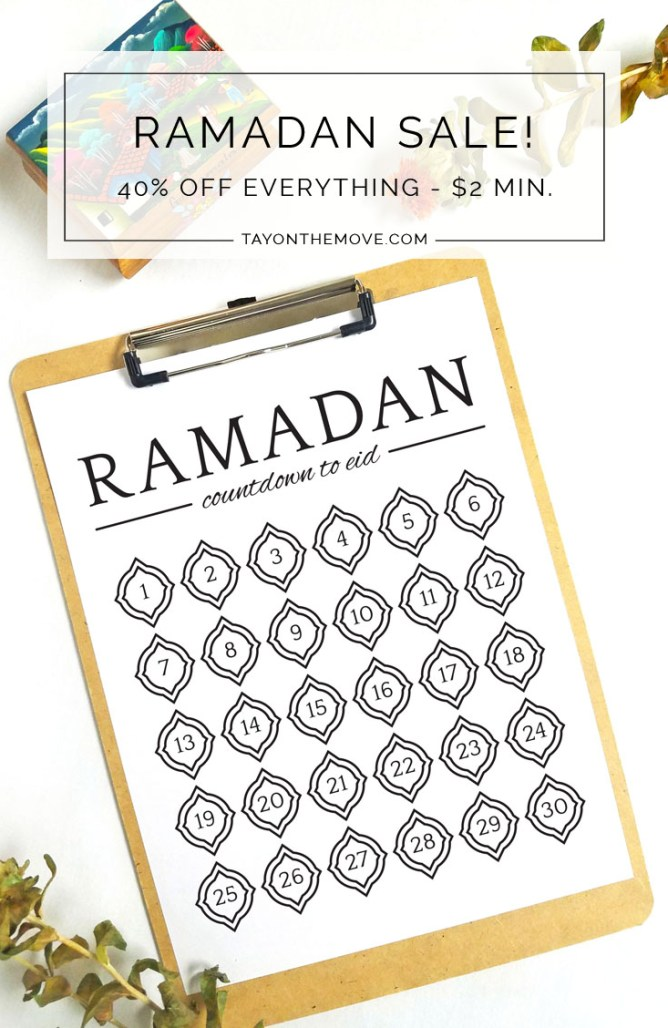 Ramadan Sale on Etsy