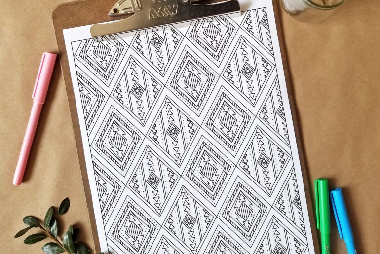 Free Coloring Page - Pattern