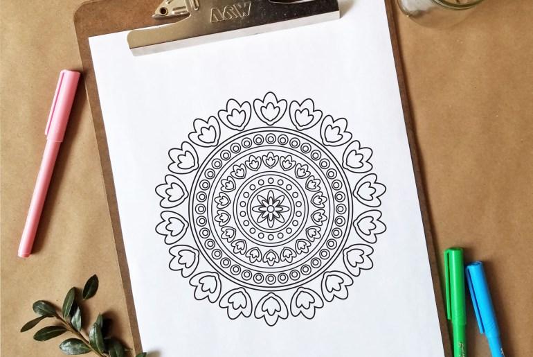 Free Coloring Page - Mandala