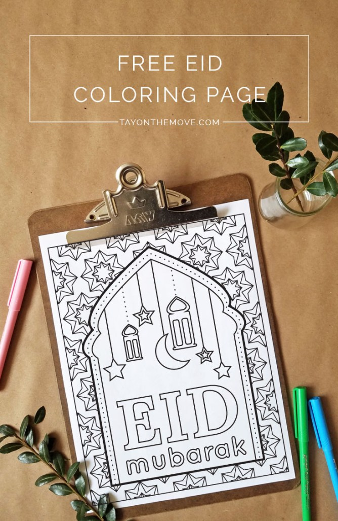 Free Eid Inspired Coloring Page