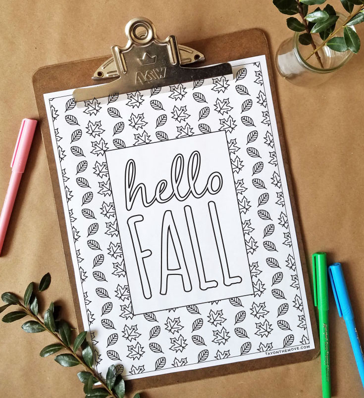 FREEbie Friday - Coloring Page 19 - Fall Inspired