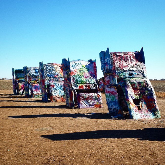 Road Trip LA to Chicago Day 2- Cadillac Ranch, Amarillo, Texas