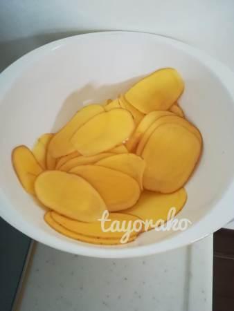 水につけておいたジャガイモ