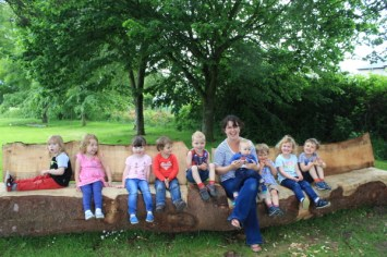 1-Childminding group on logs