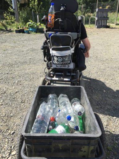 Lewis transporting water for the boat