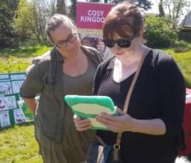 Anna at Carbon Conversation corner during Garden Spring Fair