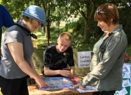Carbon Conversation corner at open gardens event