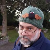 A photo of David Martin Tayside Bat Group in a bat hat