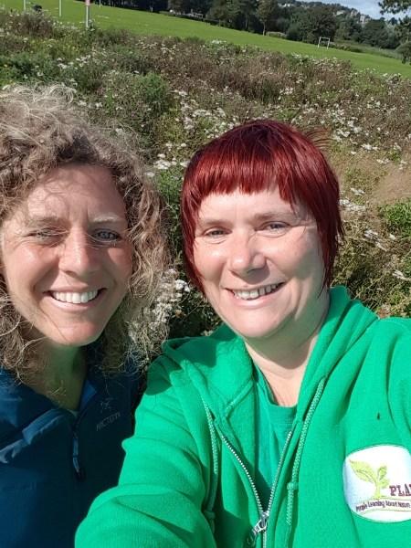 Kaska and Johanna Willi at Tayport Meadows